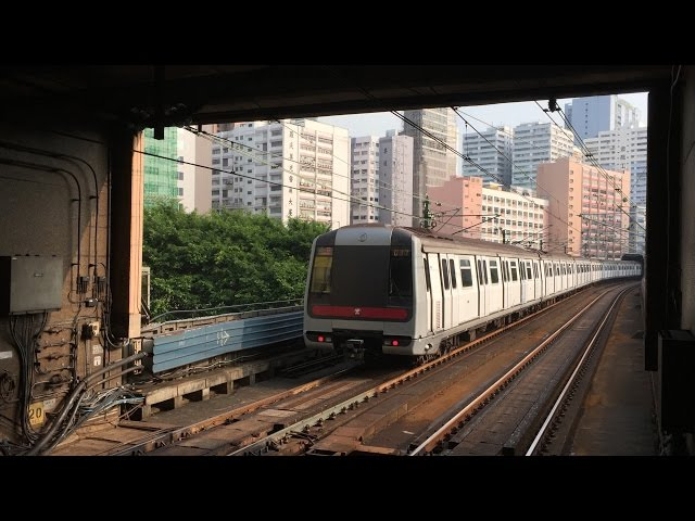 MTR HD 60fps: Metro Cammell M-Stock Trains on Tsuen Wan Line @ Kwai Fong & Kwai Hing Stations