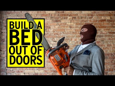 Build A Bed Out Of Doors | DIY Projects With Sean Wrafter