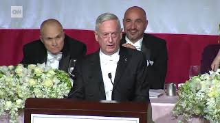 Mattis mocks Trump's bone spurs during Al Smith dinner speech