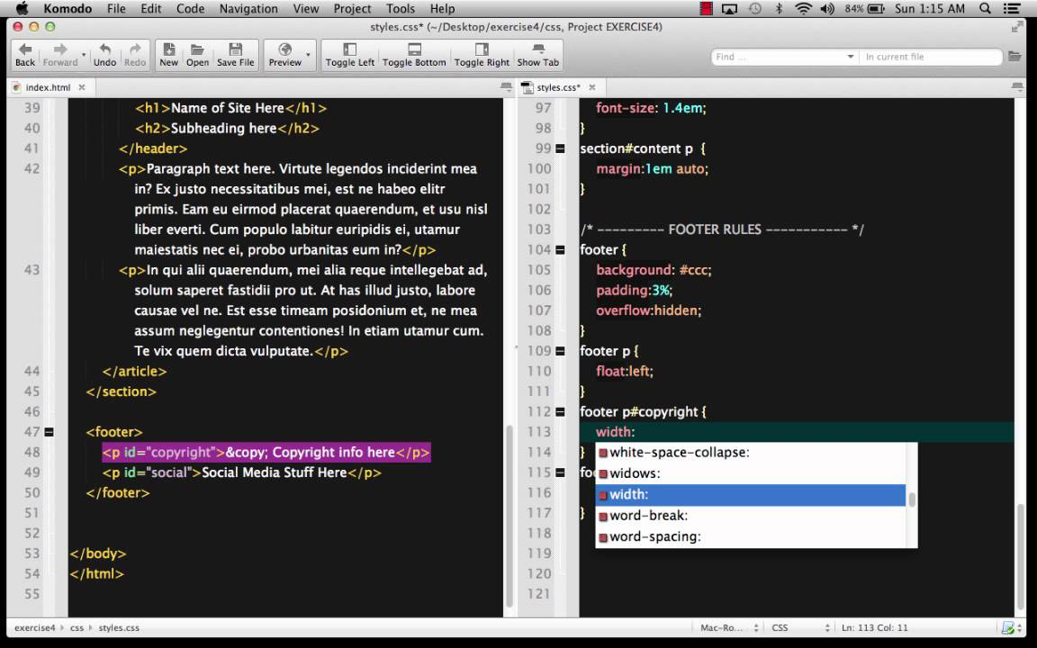 Creating a Simple Template-Based HTML + CSS Site | learn