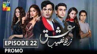 Ishq Zahe Naseeb Episode 22 Promo HUM TV Drama
