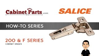 How to Install Salice 200 Series and F Series Thick Door Hinges - CabinetParts.com