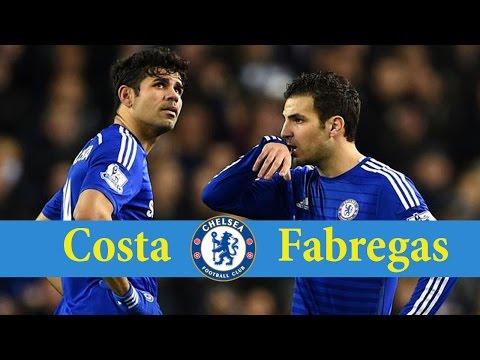 TOP 5 - Cesc Fabregas assists for Diego Costa