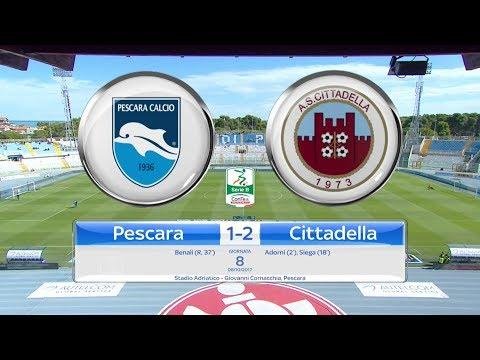 PESCARA - CITTADELLA 1-2, gli highlights