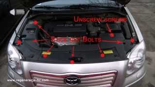 How to remove the headlight Toyota Avensis - Regeneration headlamps - removal