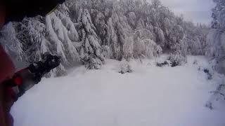 Fuoripista all abetone pulicchio snowboard