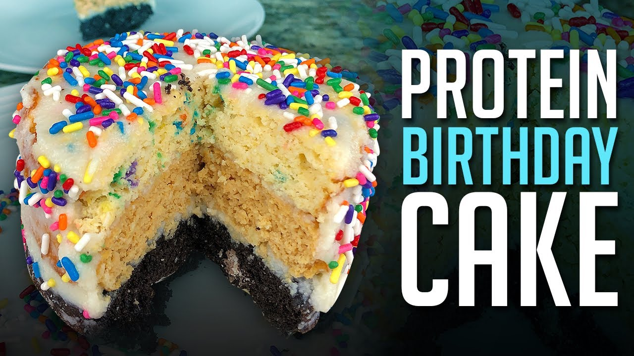 Triple Layer Protein Birthday Cake Recipe in Less Than 5 Mins! - YouTube