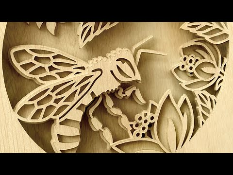 Bee Scroll saw project - making of shadowbox