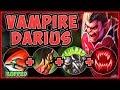 WTF! DRAIN TANK DARIUS HEALS 100% TOO MUCH! VAMPIRE DARIUS SEASON 9 MID GAMPLAY! - League of Legends