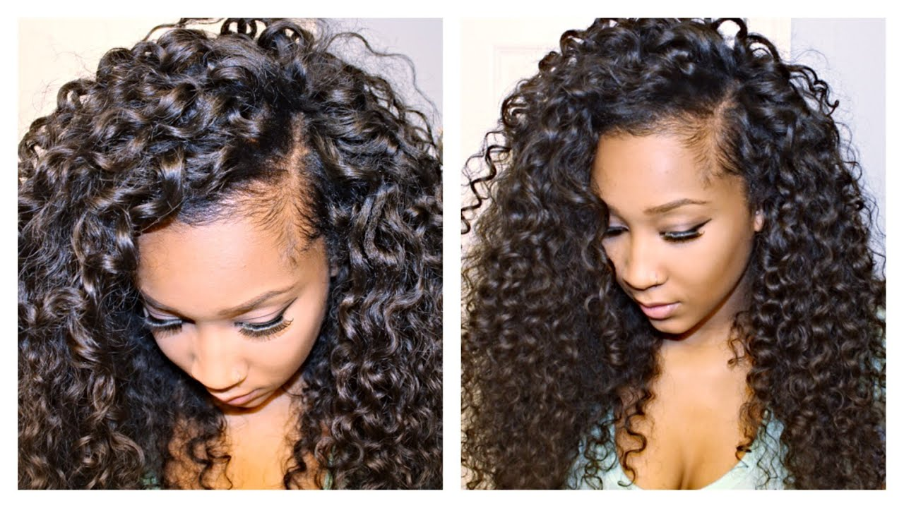 How To Blend Your Leave Out With Curly Hair Extensions Youtube
