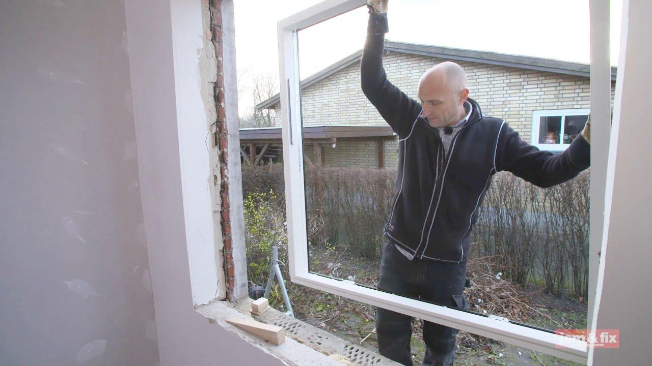 Vinduer - Lær om udskiftning, isætning og montering af vindue her - YouTube
