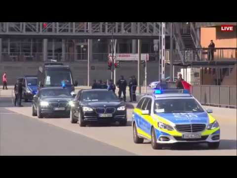 G20 Summit Leaders Arrive At Concert Hall in Hamburg, Germany