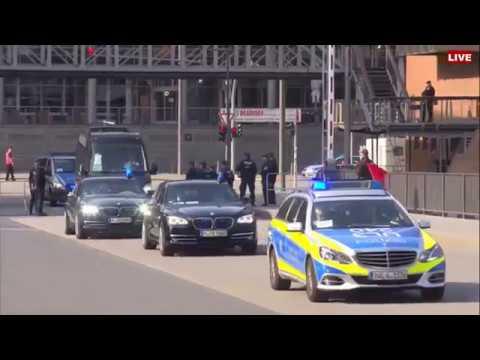 G20 Summit Leaders Arrive At Concert Hall in Hamburg, Germany