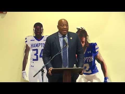 Hampton University Head Football Coach Press Conference: Robert Prunty