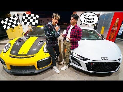 A Rich Kid CHALLENGED Us To A RACE! (Porsche 911 GT2 RS vs Audi R8)