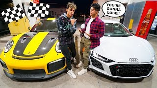 A Rich Kid CHALLENGED Us To A RACE! (Porsche 911 GT2 RS vs Audi R8)