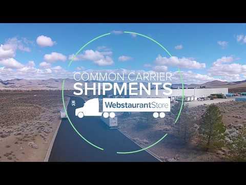 Common Carrier Shipments From WebstaurantStore