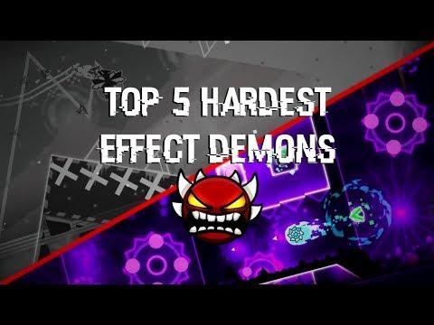 Top 5 Hardest Effect Demons - Geometry Dash