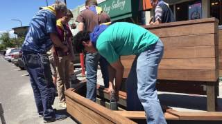 Building a parklet on Solano Avenue