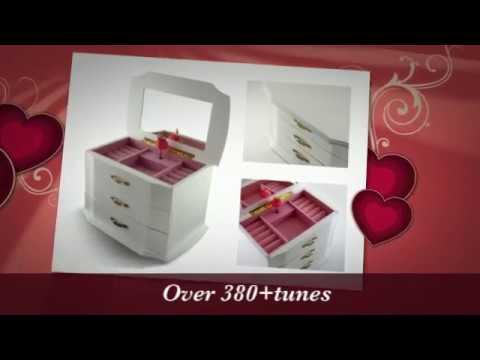 Elegant 3 Tiered White Ballerina Music Jewelry Box - Perfect Gift for Girls