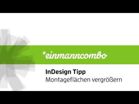 InDesign: Montageflächen vergrößern
