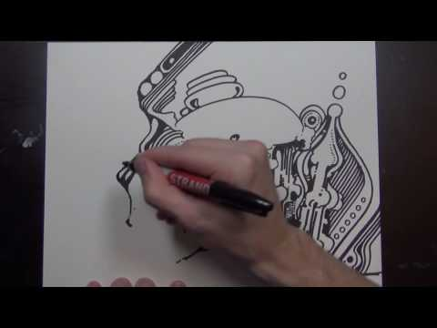 Sharpie Drawing (w/ drawing sounds)