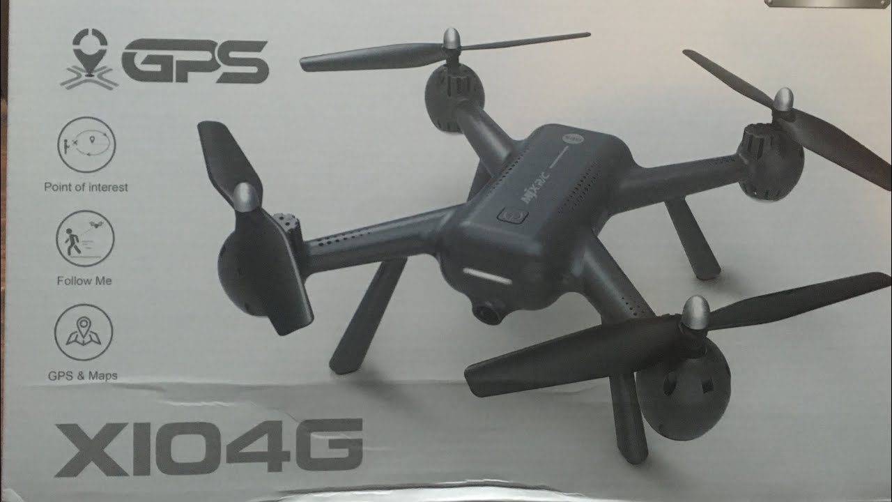 Mjx X104G GPS Follow Me RTH Drone Unboxing Review