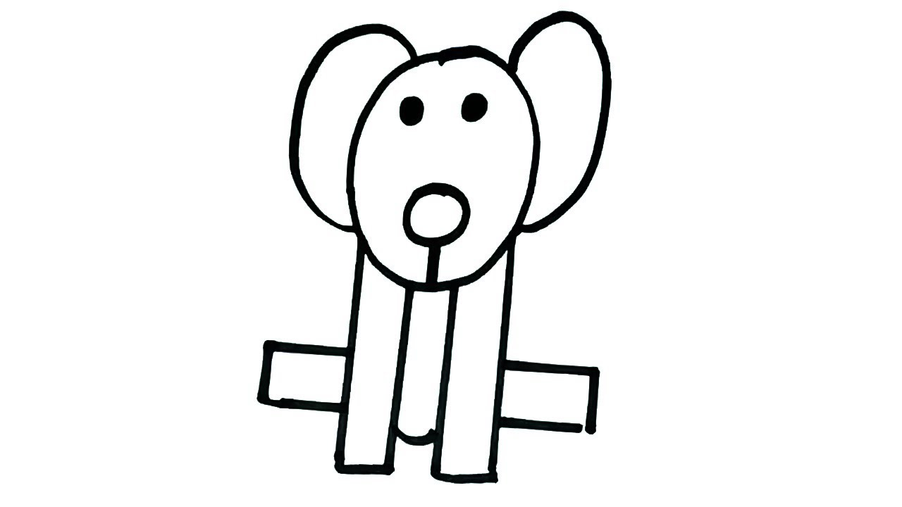 How To Draw A Dog Easy Dog Drawing For Kids Youtube