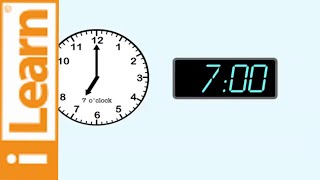 Telling Time: How to tell time to the hour - Learning the clock.