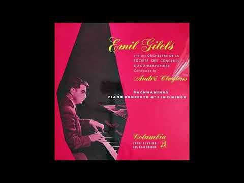 "Rachmaninov ""Piano Concerto No 3"" Emil Gilels/André Cluytens"