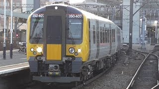 Brand New TPE 350407 + 350403 At Manchester Piccadilly On Edinburgh - Manchester Airports