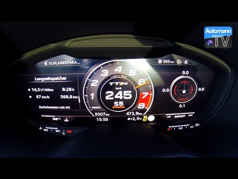 2017 Audi Tt Rs 400hp 0 263 Km H Launch Control 60fps Youtube