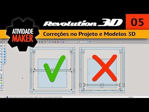 5# REVOLUTION 3D - Correções no Projeto e Modelos 3D