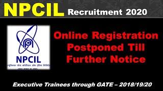 NPCIL Recruitment Update | GATE-2020 | Last Date Extended | Recruitment-through GATE 2018/19/20