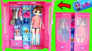 LOL Surprise FAKE VS Real Doll Opening in Barbie Clothes Closet