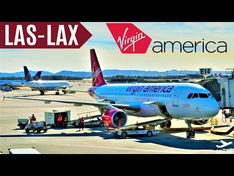 !! BEST AIRLINE !! VIRGIN AMERICA [TripReport] Las Vegas - Los Angeles | AIRBUS A320 | VX 1475