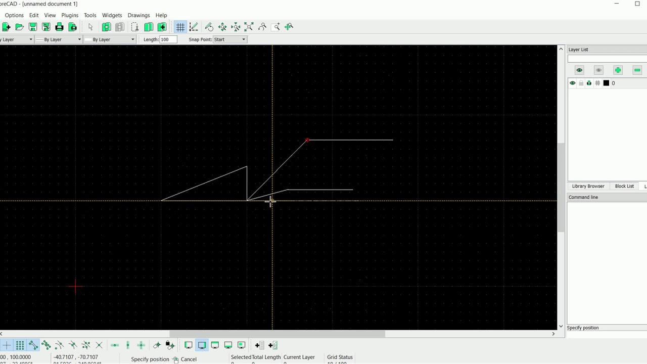 LibreCAD, phần mềm vẽ CAD miễn phí – Ngày 2: Vẽ đoạn thẳng cơ bản