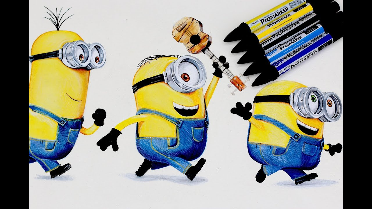 MINIONS Drawing DESPICABLE ME   YouTube