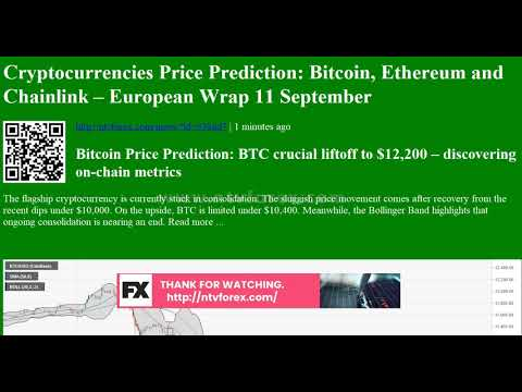Cryptocurrencies Price Prediction: Bitcoin, Ethereum and Chainlink – European Wrap 11 September