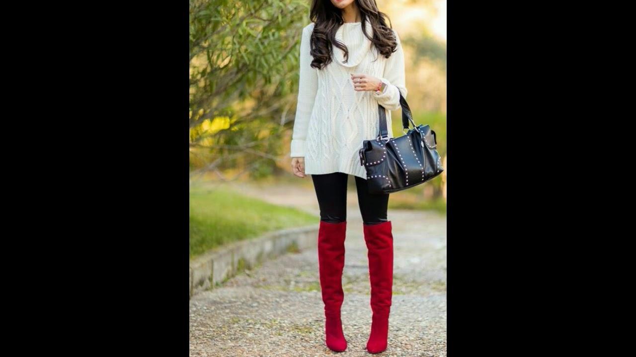 outfits con prendas rojas para mujeres