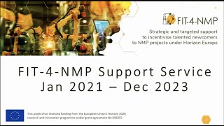 2-1 FIT-4-NMP project overview Day 2, Giles BRANDON, Intelligentsia Consultants Sàrl,