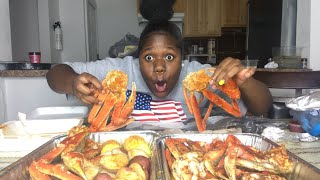 My first huge seafood boil MUKBANG