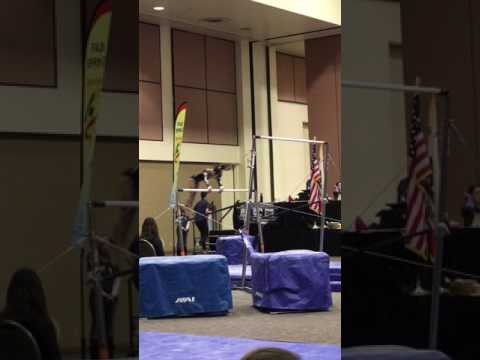 Keira's level 6  bar routine Palm Springs classic