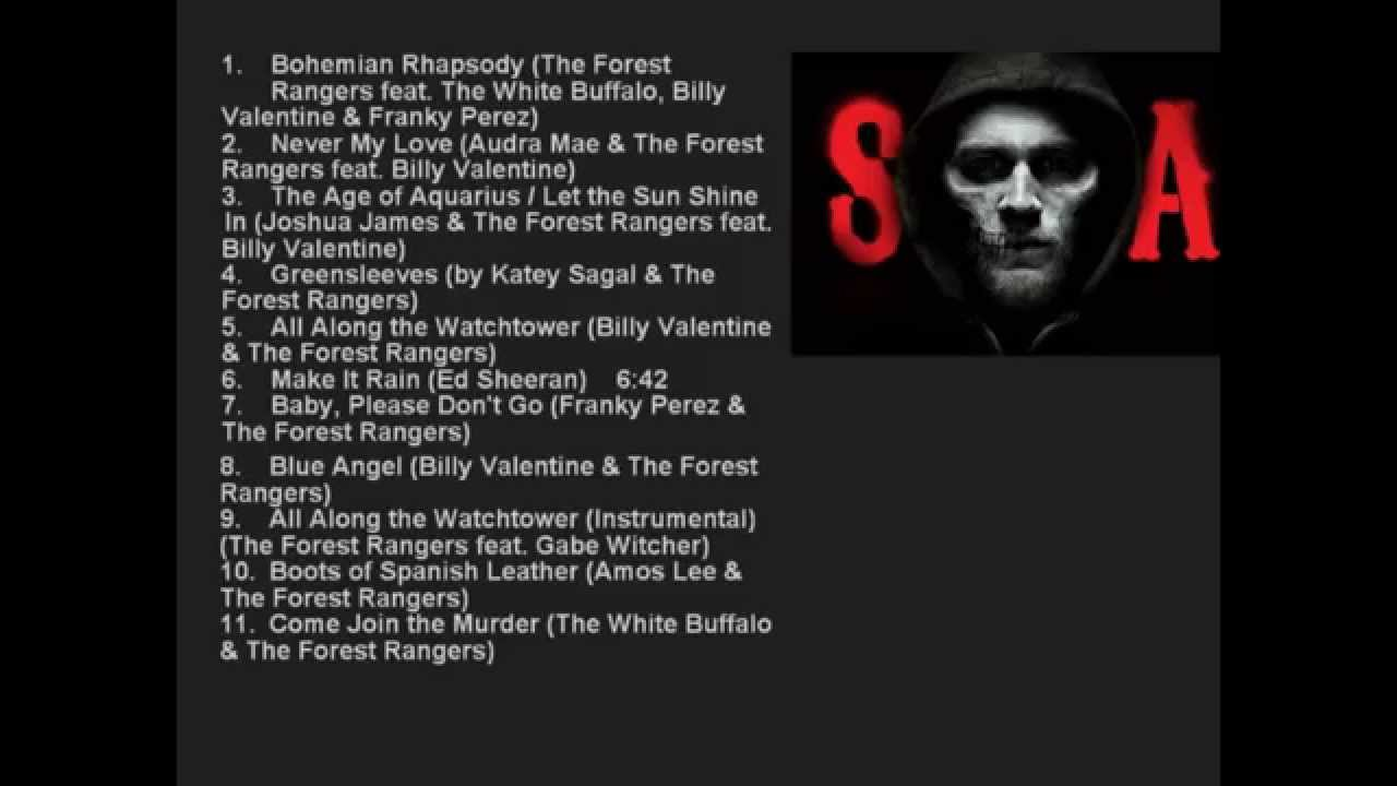 Sons Of Anarchy Season 7 Official Serie Soundtrack List Sons Of Anarchy Sons Of Anarchy Music Anarchy