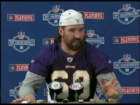 Jared Allen Press Conference January 20th Before N...