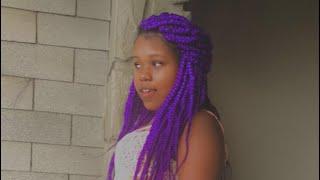 Alonj Mov Hairstyle🇭🇹!!Purple Braids Hairstyles