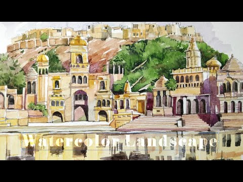 Learn watercolor landscape painting and feel the joy with GoArt Goa. Workshop coming up soon.