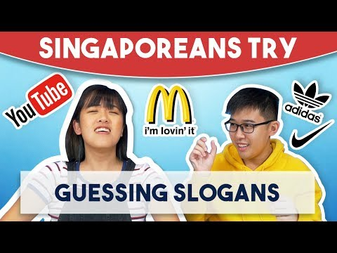 Singaporeans Try: Guessing Slogans