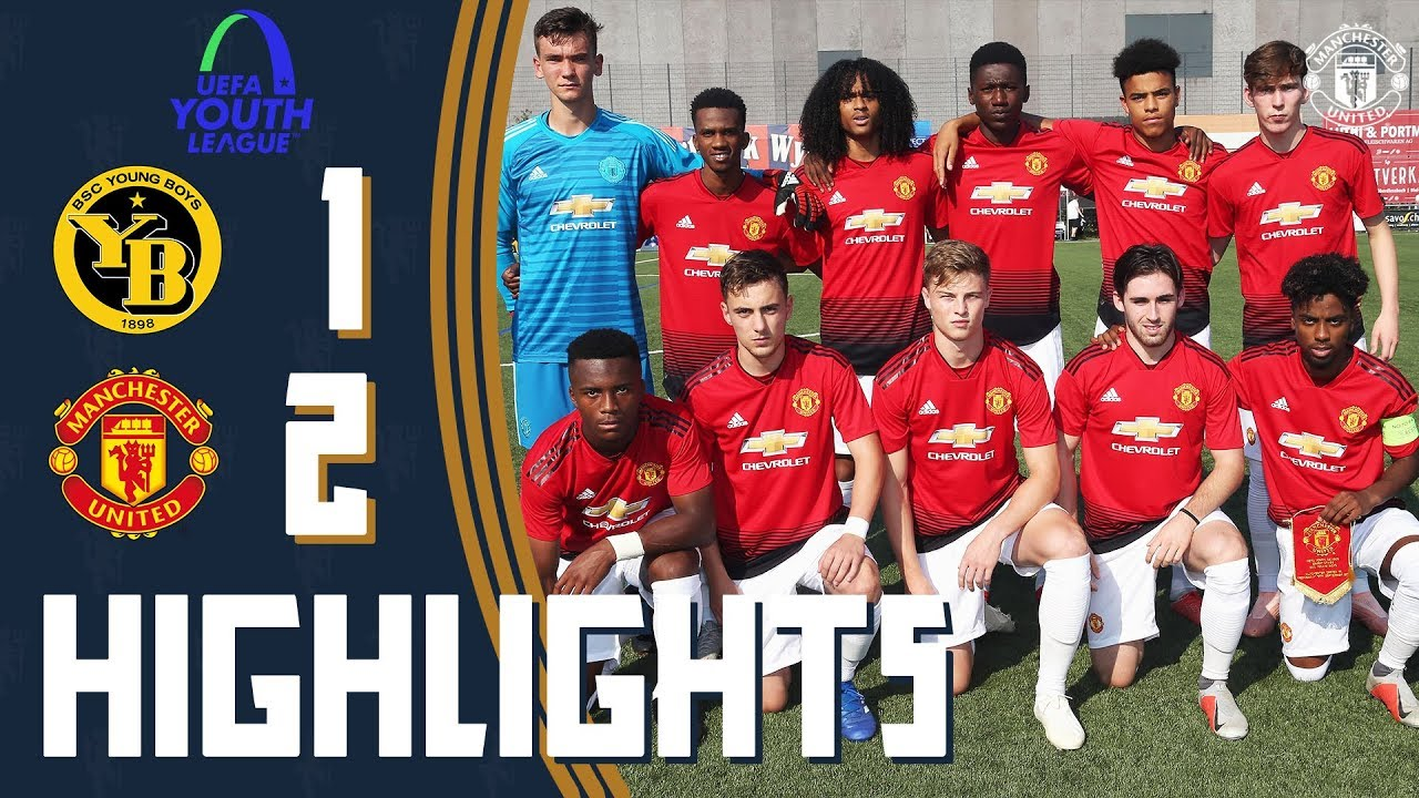 The Academy Uefa Youth League Highlights Manchester United 2 1 Bsc Young Boys Youtube