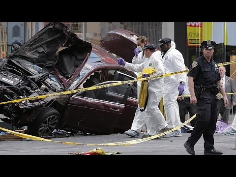 Car ploughs into pedestrians in New York